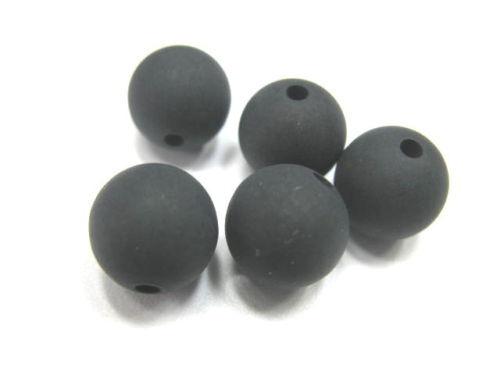 4 polaris perles 8mm noir mat neuf 8040