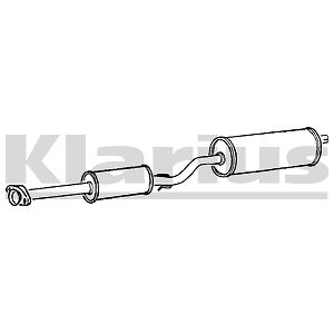 Brand New! Replacement Exhaust Rear Back Box Silencer 2 Year Warranty