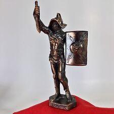 Vintage Roman Gladiator Copper? Bronze? Metal Statue Fighter Warrior Spartacus