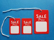 Sale Price Tags With String Or Unstrung Red White Large Small Retail Coupon