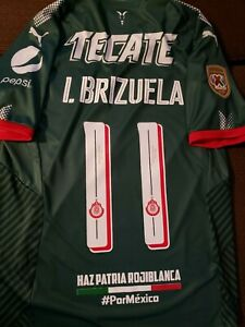 new arrival dec4b 3ad86 Details about Chivas Champion 3rd Green Jersey Verde Chivas Campeon 17/18  Fuerza Mexico name #