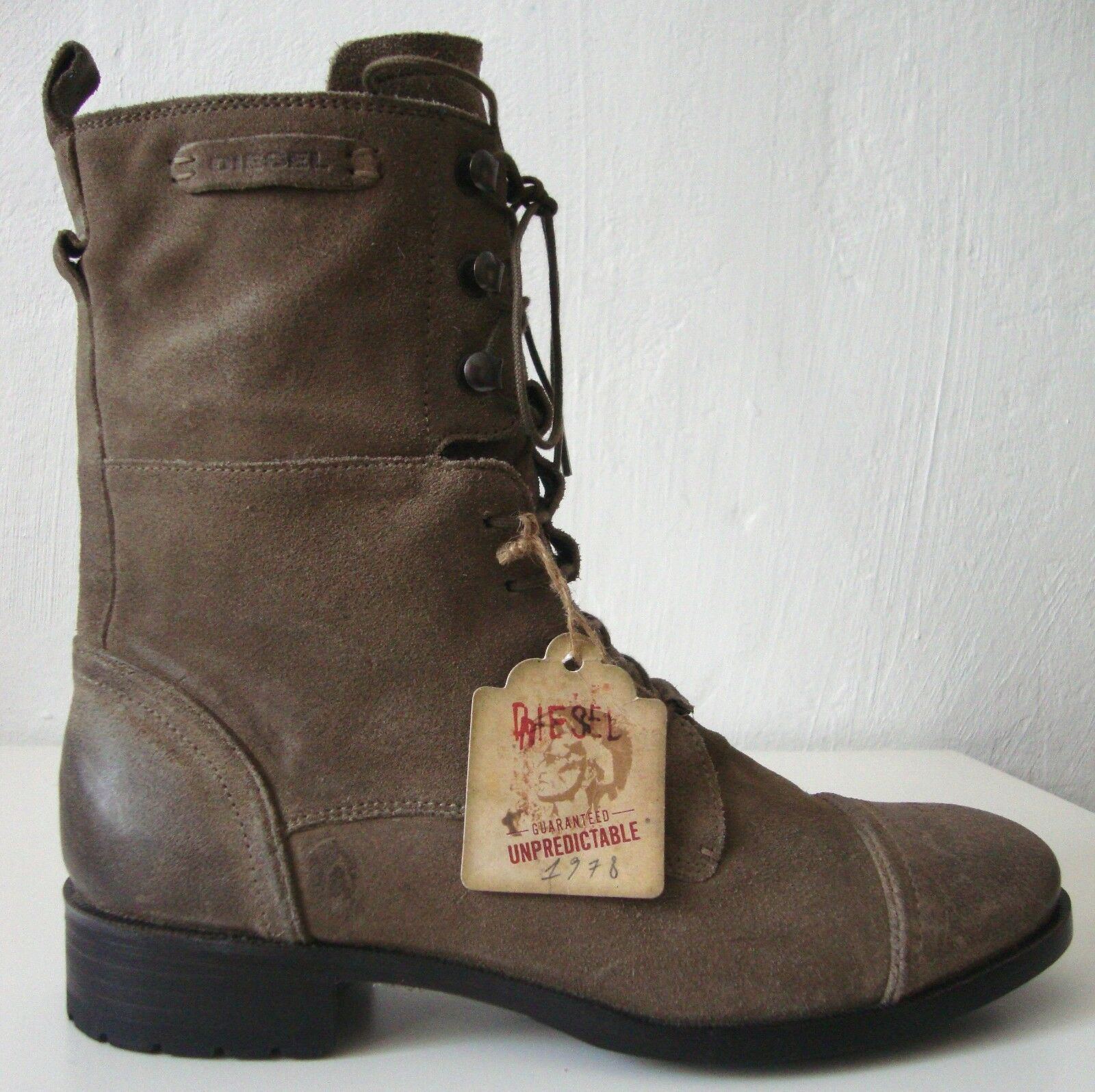 DIESEL Stiefel Herren Kurzschaft Schuhe Stiefel Knöchelstiefel Schuhe Kurzschaft Echtleder Gr.43 NEU 9a31e0