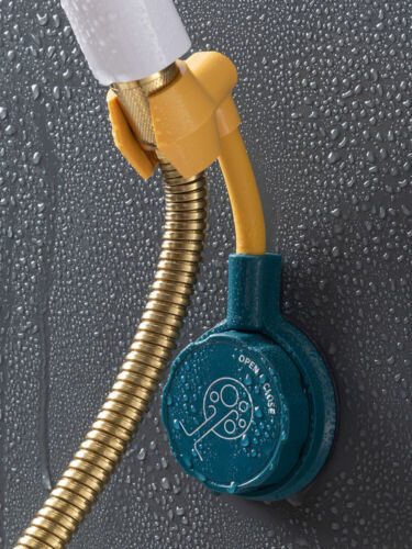 Universal Wall Mounted Shower Head 360°Holder Bracket Adjustable Home Bathroom