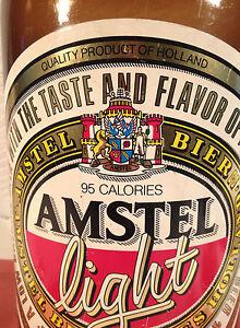 Image Is Loading Vintage Amstel Light Beer Advertising Plastic Bottle 24