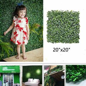 12pcs-Artificial-Boxwood-Hedge-Mat-UV-Grass-Fake-Fence-Wall-Decor-20-034-x20-034-USA