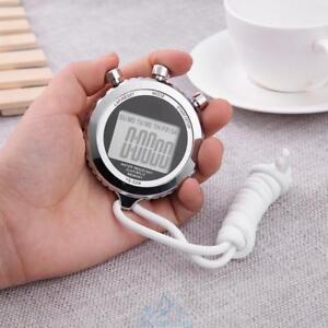 LCD-Chronograph-Digital-Timer-Stoppuhr-Sport-Zaehler-Pedometer-Alarm-Stopwatch
