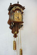Dutch Old Wall Clock Sallander Clock Warmink Wuba Antique in Nut Wood