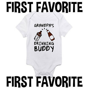 Uncle Drinking Buddy Baby Onesie Shirt Shower Gift Funny Newborn Clothes Gerber