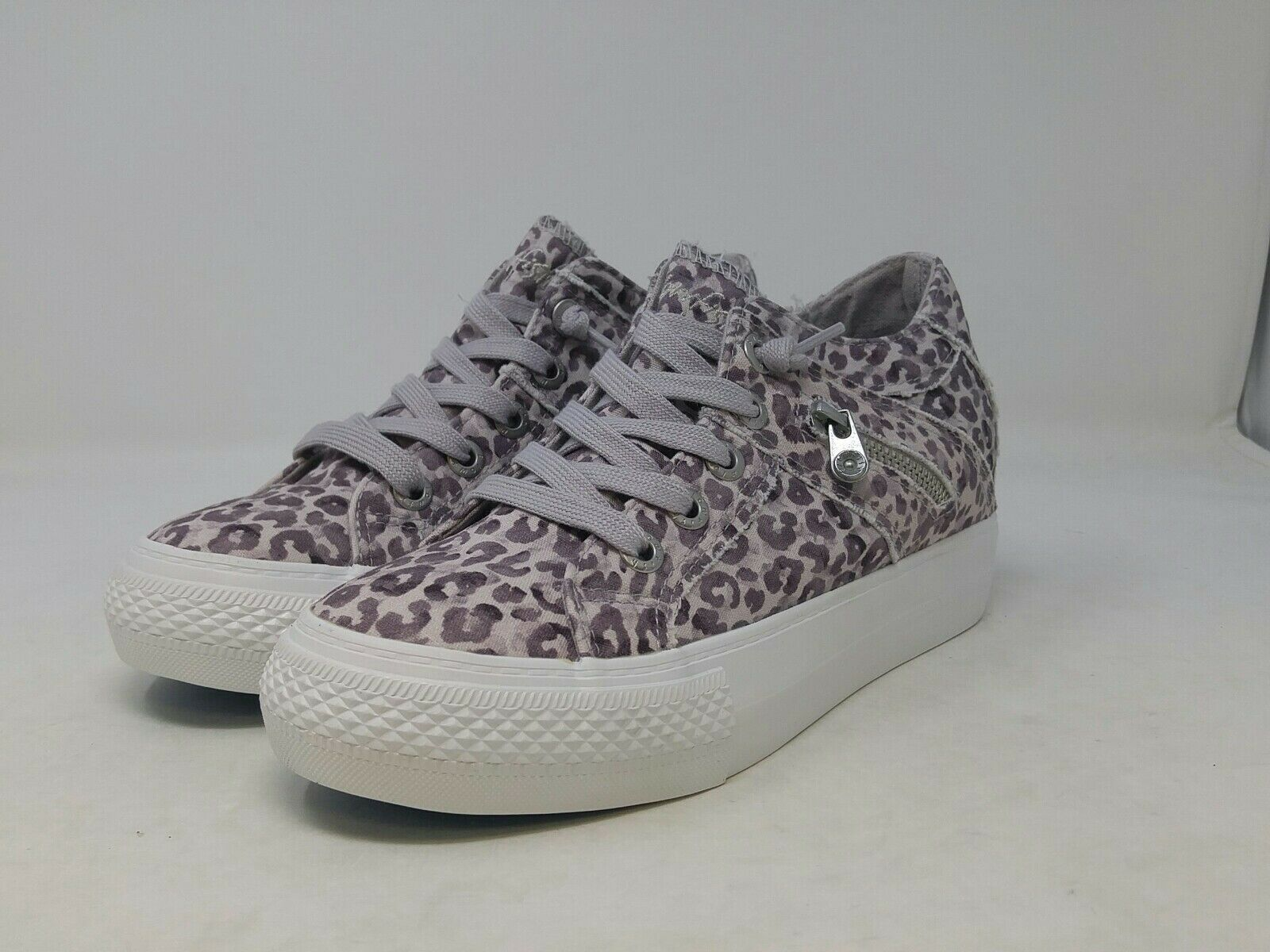 Blowfish Women's Women's Grey/Purple Cheetah Melondrop Sneaker 7 US