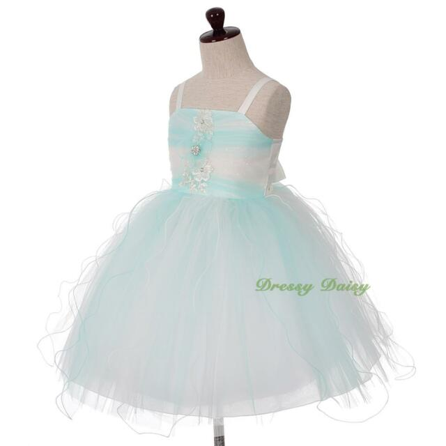 Sequined Wedding Flower Girl Pageant Party Birthday Dresses Up Size 3-8 FG362