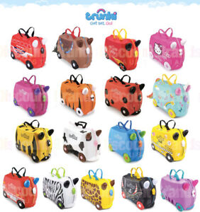 564922f5eb1d NEW TRUNKI RIDE ON SUITCASE TOY BOX CHILDREN KIDS LUGGAGE - SELECT ...