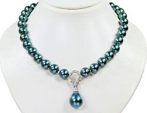 Schoene-Halskette-aus-Muschelkernperlen-mit-Anhaenger-in-Tropfenform-muk74k-266