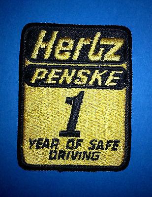 Hertz Penske Car Truck Rental 25 Years of Safe Driving Jacket Hat Patch Crest