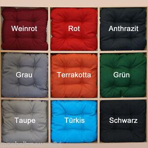 bis zu 100 sun garden sitzkissen stuhlkissen softkissen kissen 8 farben zur wahl ebay. Black Bedroom Furniture Sets. Home Design Ideas