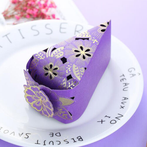 10pcs UK Hollow Triangle Candy Box Wedding Cake Creative Favors Shower Gift Bags