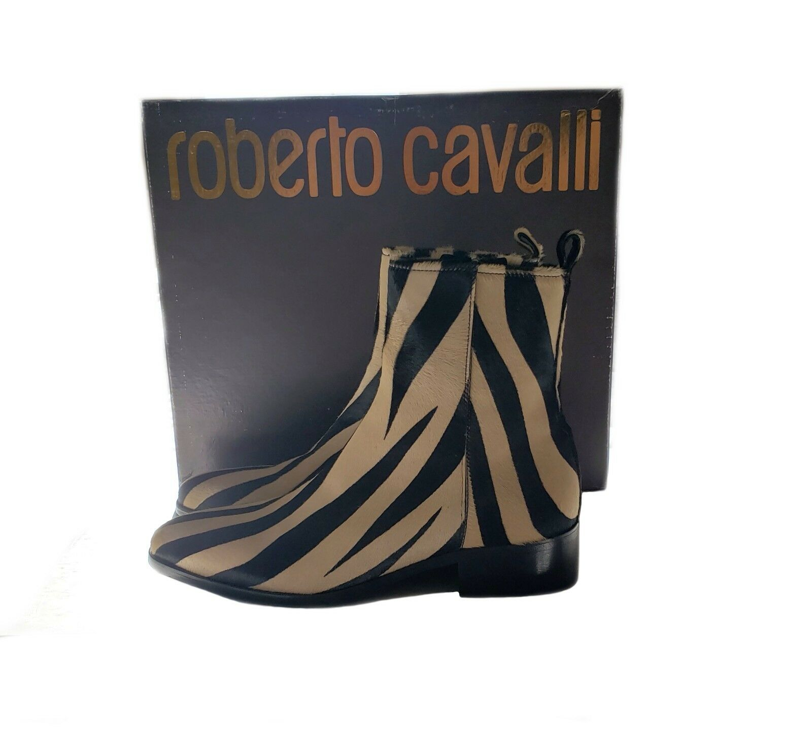 Roberto Cavalli Men's Calf Hair Leather Boots (Size 41)