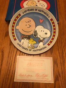 WILLITS PEANUTS SNOOPY WOODSTOCK &CHARLIE BROWN 1990 40 YEARS OF HAPPINESS