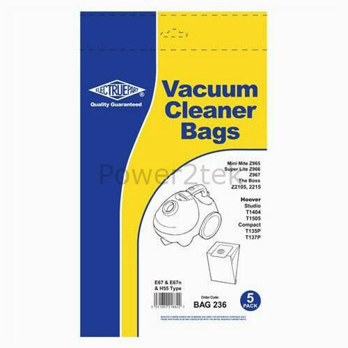 H55 Vacuum Bags for Electrolux Z966A Z967 The Boss Z2105 Hoover E67n 20 x E67