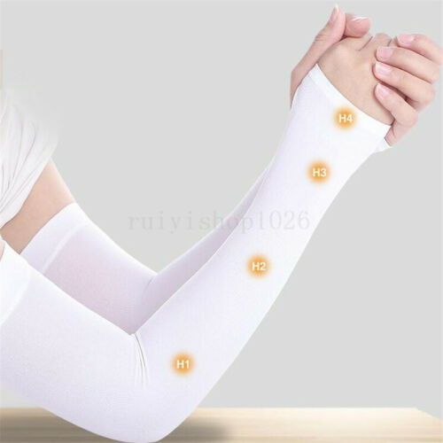 1 Pair Cooling Arm Sleeves Cover UV Sun Protection Outdoor Sports For Men Women