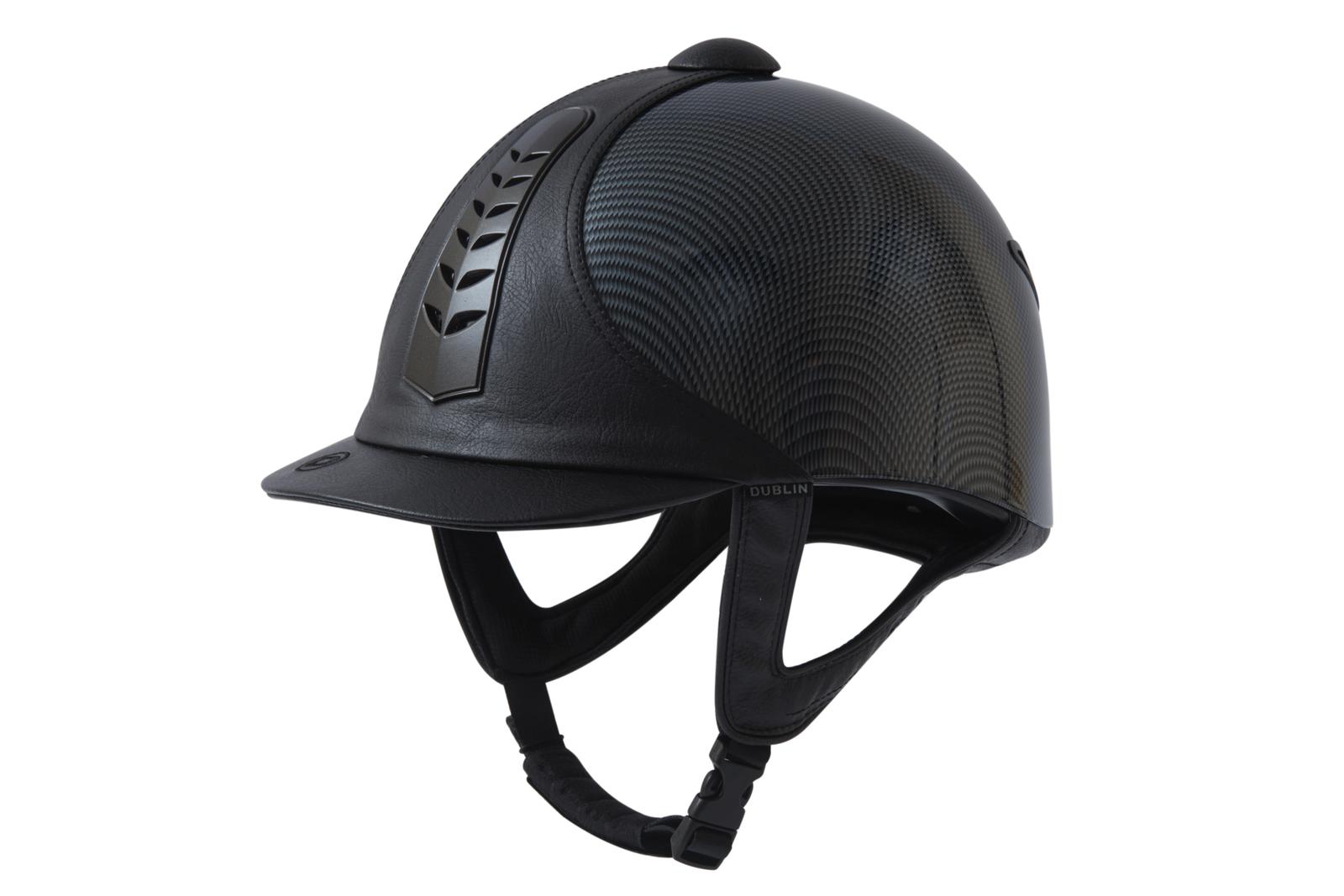 Dublino Pro argentoo Cappello da equitazione cavallo GraphicNero