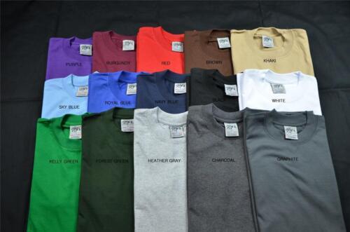 1 NEW SHAKA WEAR Super Max Poids Lourd T-shirt couleur Tee Plain Blank S-5XL