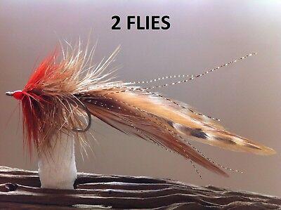 SEADUCER//DEEP SILHOUETTE FLY 2 FLIES BLACK//RED  redfish snook tarpon striper