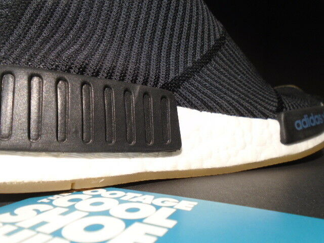 ADIDAS SOCK NMD CS1 PK CITY SOCK ADIDAS PRIMEKNIT CORE BLACK Weiß GUM PACK R1 BA7209 7.5 990829