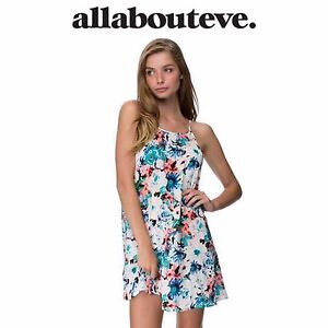 Womens-All-About-Eve-Mesmerized-Mini-Dress-Summer-Floral-Casual-Beach-Sundress