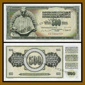 NIKOLA TESLA YUGOSLAVIA 1981 500 DINARA UNC BANKNOTE P-91 BUY FROM A USA SELLER