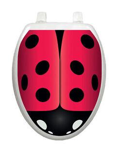 Image Is Loading Toilet Tattoos Toilet Lid Decor Ladybug Bathroom Decor