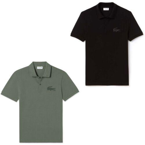 Lacoste Men/'s Graphic Bonded Crocodile Logo Slim Fit Polo T-Shirt /%100 Cotton
