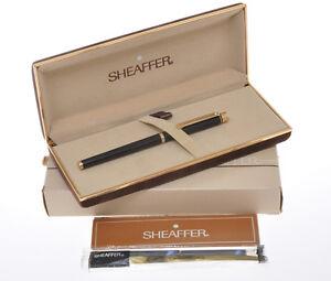 Sheaffer-Targa-1022s-Slim-Size-1982-Black-Laquer-fountain-p-new-pristine-in-box