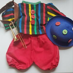 Clown-outfit-For-Approx-13-13-16-15-11-16in-Bears-Or-Doll-With