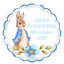 48-Personnalise-Bapteme-Bapteme-Autocollants-Peter-Rabbit-40-mm-etiquettes miniature 2