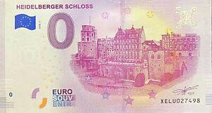 BILLET 0  EURO  HEIDELBERGER SCHLOSS  ALLEMAGNE    2018 NUMERO DIVERS