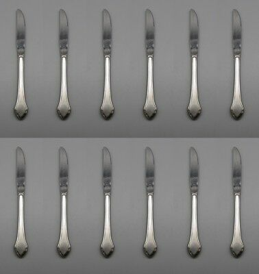 SET OF TWELVE CUBE Oneida DAMASK ROSE Stainless  Flatware Dinner Forks