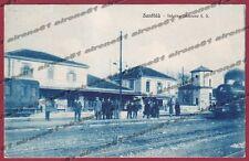 VERCELLI SANTHIÀ 27 TRENO - INTERNO STAZIONE - FERROVIA Cartolina