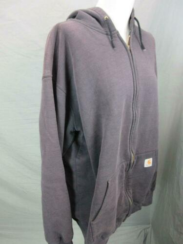 Carhartt Size XL Mens Gray Athletic Full Zip Cotto