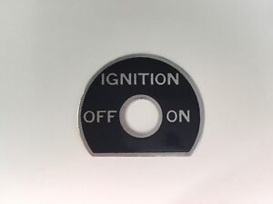 Details about 1930's Aircraft Ignition Switch Plate, Aeronca C3 and Others,  Neat! No  2