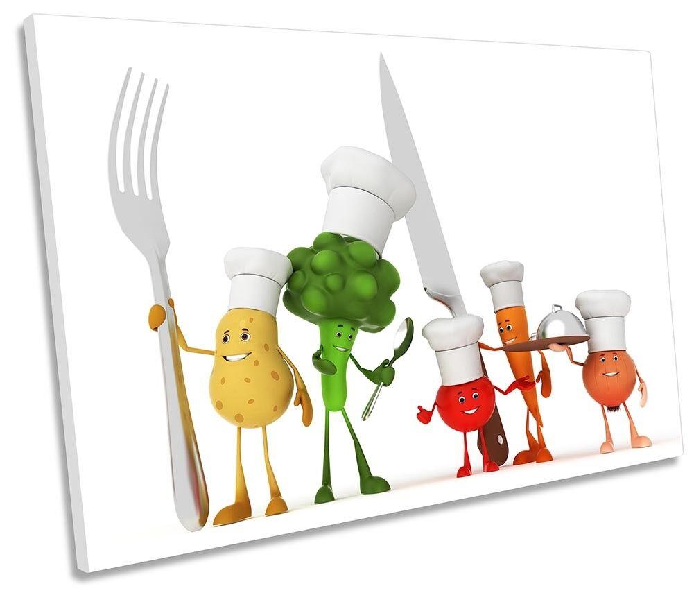 Cucina Verdura caratteri Foto Tela Tela Tela Singola Wall Art Print f21e16