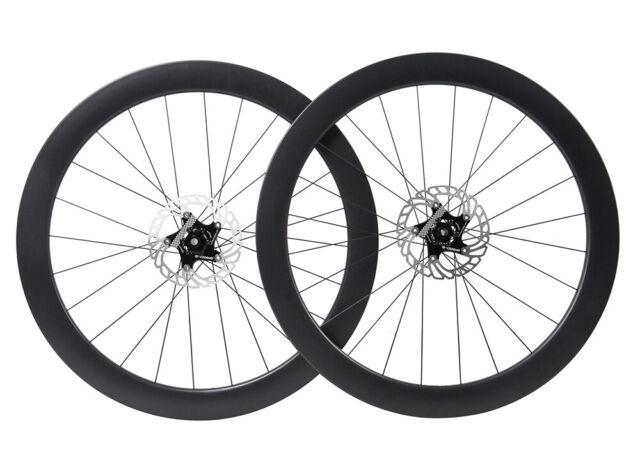 700C Disc Brake Carbon Wheels Rotors Tubeless Clincher Floating Rotor 55mm