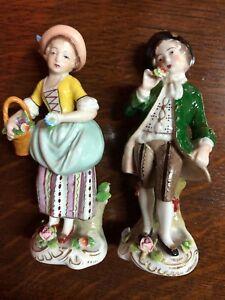 Figurines - personnages (la paire) en porcelaine de Sitzendorf (Allemagne Est) 1 FR0Bnihy-09114302-965844115