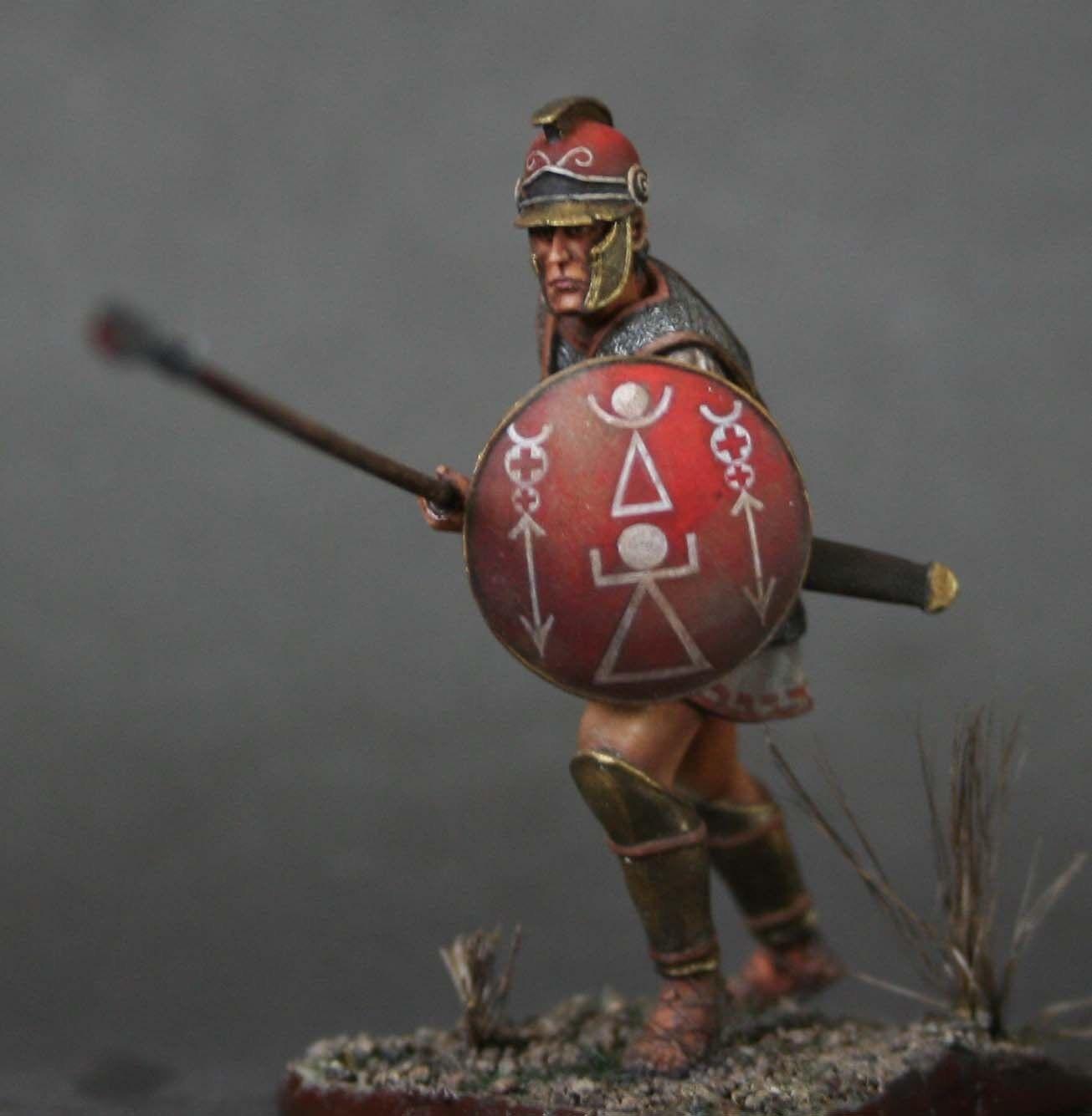 Tin Soldier, konst, liby -phoenisk infanterist {rea -5533;65533; 65533; 1, hopplit, Kkonsthage, 54 mm