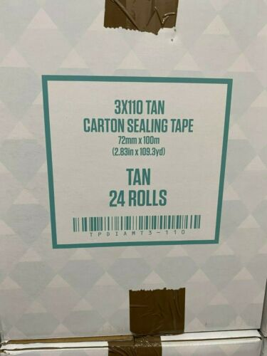 """3/"""" Wide Tan packing Tape 3x110 case of 24 rolls"""