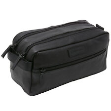 AlpineSwiss Sedona Toiletry Bag Genuine Leather Shaving Kit Dopp Kit Travel Case