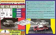 ANEXO DECAL 1/43 FIAT 124 ABARTH RALLYE A.PAGANELLI R.POLSKI 1973 (01)