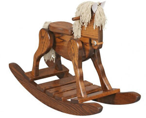 Superbe Image Is Loading Childs Deluxe Wooden Rocking Horse Amish Built Solid