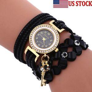 Women-Ladies-Fashion-Casual-Watch-Chimes-Diamond-Leather-Bracelet-Wrist-Watches