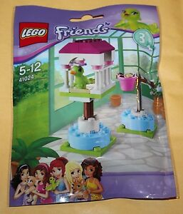 Set-Lego-Friends-serie-3-Le-Perroquet-et-sa-cage-ref-41024-polybag-scelle-Neuf