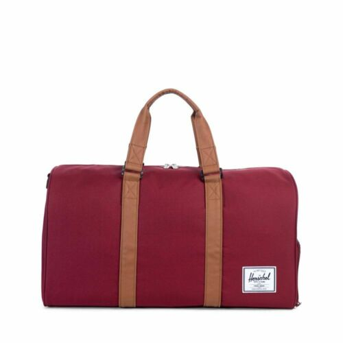 Herschel Novel Mens /& Womens Duffle Gym Travel Bag Red Wine